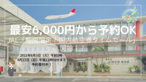 JAL「期間限定!国内航空券タイムセール」開始