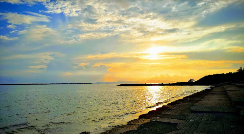 舟蔵公園での夕日