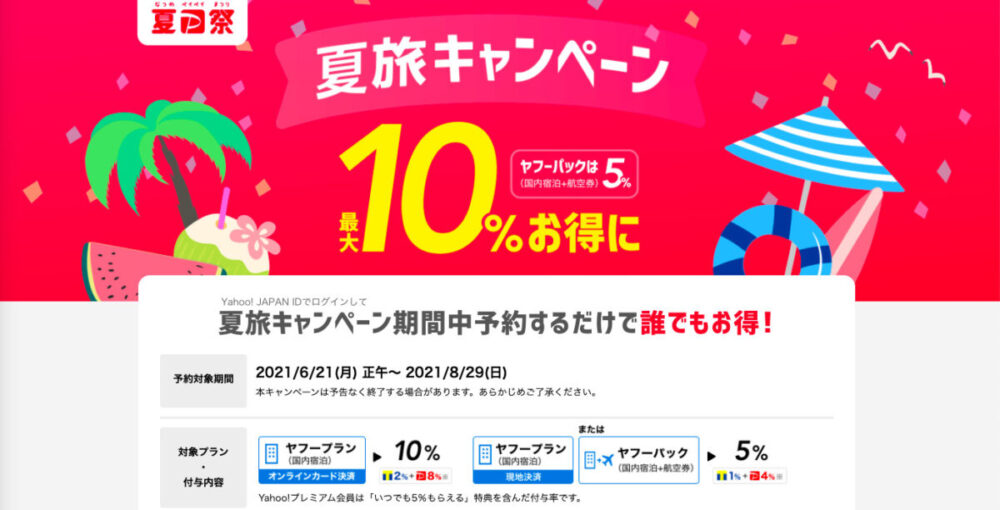 Yahoo!トラベル夏旅キャンペーン