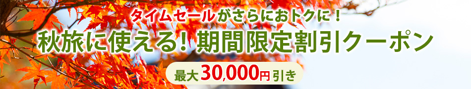 JAL秋の最大30,000円割引クーポン