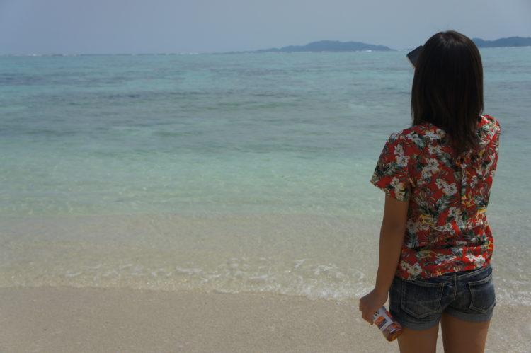 石垣島の海を眺める情勢