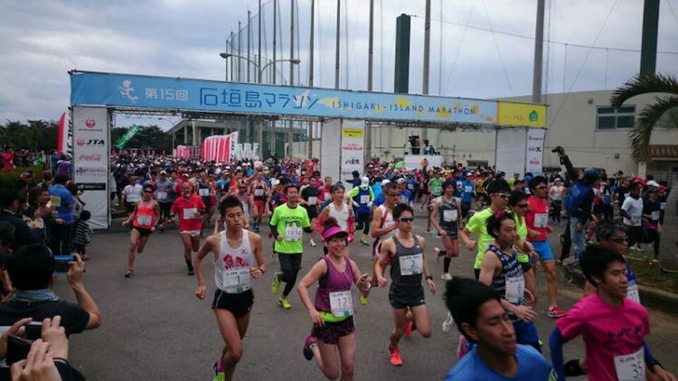 石垣島マラソンの風景