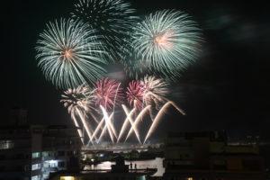 新春石垣島の花火大会