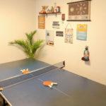 CORE HOUSE 石垣島の卓球台スペース