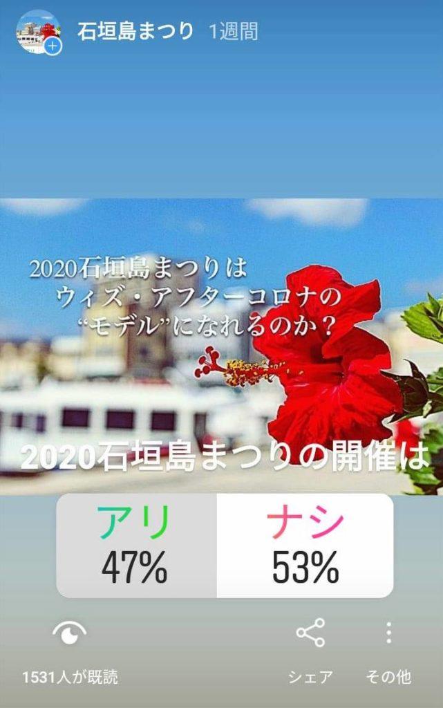2020石垣島まつり開催について。Instagramアンケートの結果