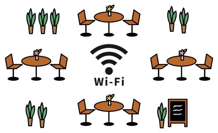 席とWi-Fiのイラスト